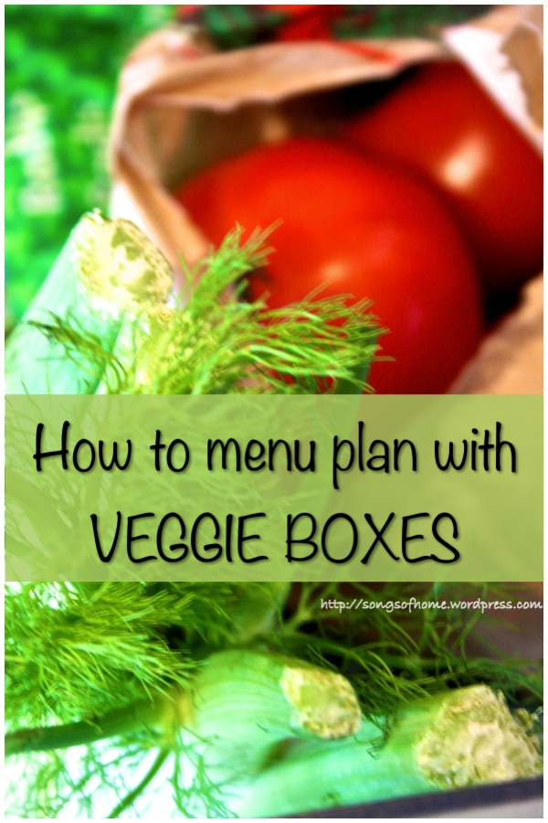 menu plan veggie box