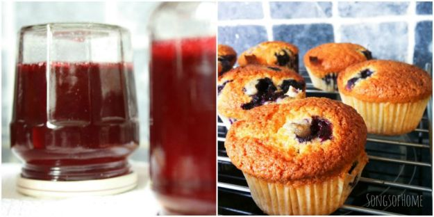 redcurrant jelly blueberry muffins